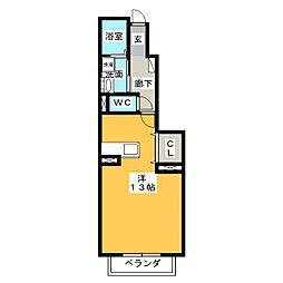 プーリヴァーA[1階]の間取り