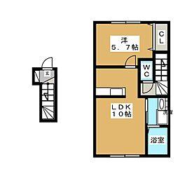 グランモアパーム[2階]の間取り
