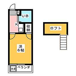 メイコウハイツ弥生[2階]の間取り