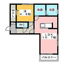 D−room東田中[3階]の間取り