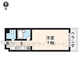 グレース円町[103号室]の間取り