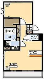 セジュールHIYORI2[1階]の間取り