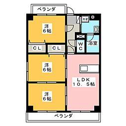 アムール・松倉[3階]の間取り