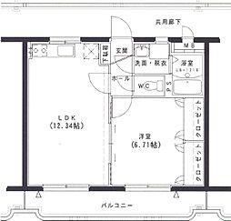 ファーマ花山手[2階]の間取り