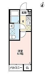 ローレルハウス大久保[1階]の間取り
