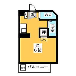 ヴェルモント原田[1階]の間取り