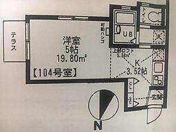 神奈川県横浜市神奈川区三ツ沢下町13の賃貸アパートの間取り