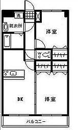 ユーミー浮城[501号室]の間取り