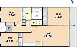 MⅢTAKAI[3階]の間取り