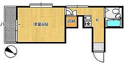 ユングハイム[1階]の間取り