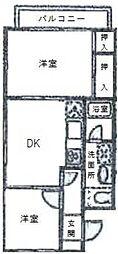 ドルチェ豪徳寺[1階]の間取り
