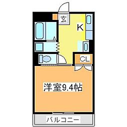 広島県東広島市西条下見7丁目の賃貸マンションの間取り