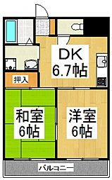キングス所沢[4階]の間取り