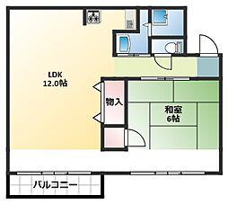大森西住宅11号棟[4階]の間取り