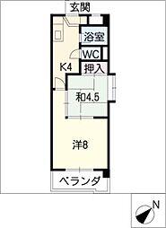 新日豊明マンション[8階]の間取り
