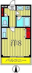 興亜第3マンション[205号室]の間取り