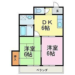 愛知県知多郡南知多町大字片名字長谷の賃貸アパートの間取り