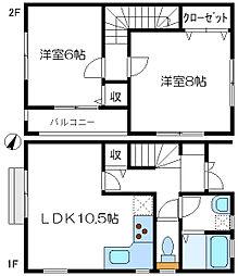 [テラスハウス] 東京都八王子市みなみ野3丁目 の賃貸【東京都 / 八王子市】の間取り