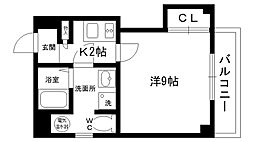 フォーラム西宮・平松町(旧PINOPIATTO)[401号室]の間取り