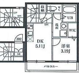 ミハス板橋東山町[3階]の間取り