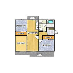 陽和台第3住宅第14号棟[4階]の間取り
