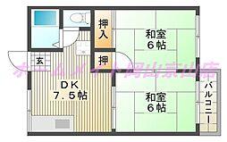 ホリホックハウスA B[1階]の間取り