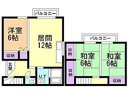 大楽毛南5丁目(1−25)借家 3LDKの間取り