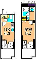 JR京浜東北・根岸線 大井町駅 徒歩6分の賃貸マンション 1階1DKの間取り