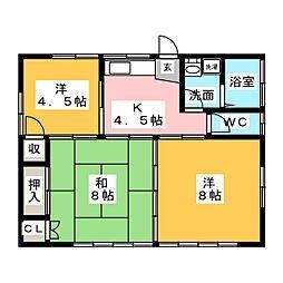 中島貸家 A棟[2階]の間取り