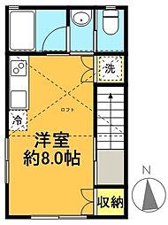 プルミエール高井戸[2階]の間取り