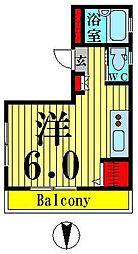 グリーンヒル竹の塚[301号室]の間取り