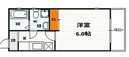 サイト京都西院[4-D号室]の間取り