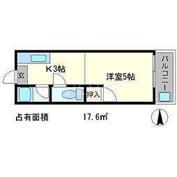サニーコーポ岡崎[2階]の間取り