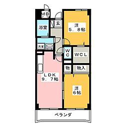 レジデンス・鏡[2階]の間取り