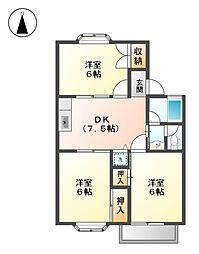 ファミール和幸[2階]の間取り