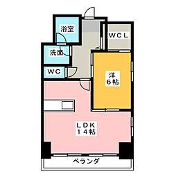 TRIBUTE元浜[8階]の間取り