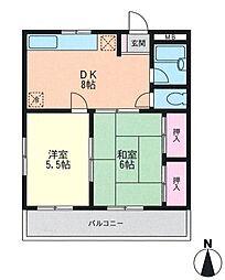 プレンティーヒルズ2[4階]の間取り
