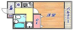 マンションカミムラ[206号室]の間取り