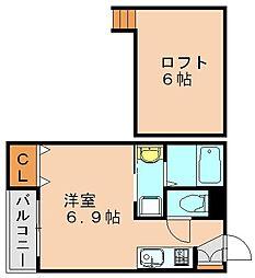 ルーテム[1階]の間取り