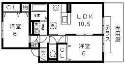 第9ウエスタンハイツ[102号室号室]の間取り