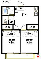 ジュネパレス松戸第708[1階]の間取り