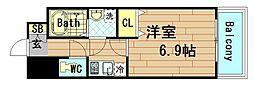 グランパシフィック本田[8階]の間取り