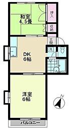 メゾンドエルセ[2階]の間取り