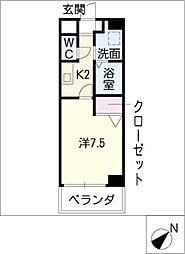 ウェル・セレッソWEST[4階]の間取り