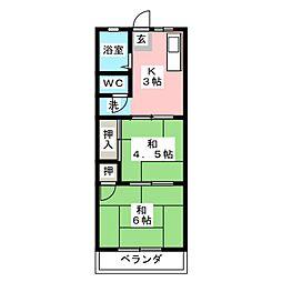 パステルⅡ[2階]の間取り