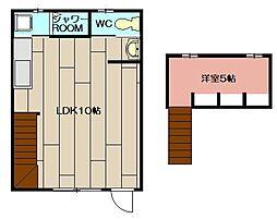 高倉住宅[1号室]の間取り
