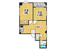 宗川マンション[6階]の間取り