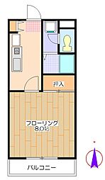 PARK PRAZAII[4階]の間取り