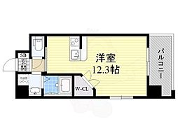 PHOENIX Clove Tomoi 9階ワンルームの間取り