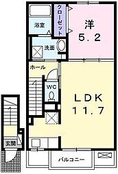 カプリB[2階]の間取り